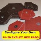 1/4-20 EYELET HEX PADS