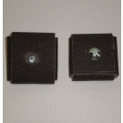 1AX Abrasive Square Pad 2x2x1/2x1/4-20 Bolt 80x