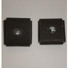 1AX Abrasive Square Pad 3x3x1/2x1/4-20 Bolt 80x