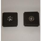 1AX Abrasive Square Pad 1-1/2x1-1/2x1/2x1/4-20 Eyelet 120x