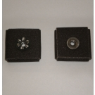 1AX Abrasive Square Pad 1-1/2x1-1/2x1/2x1/4-20 Eyelet 180x