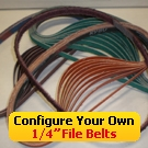 "Configure Your Own 1/4"" File Belts"