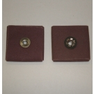 R228 Abrasive Square Pad 1-1/2x1-1/2x1/2x1/4-20 Eyelet 60x
