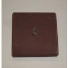 "R228 Abrasive Square Pad 2-1/2x2-1/2x1/2x3/8"" AH 80x"